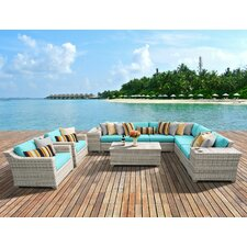 Modern Fairmont 11 Piece Deep Seating Group with Cushion