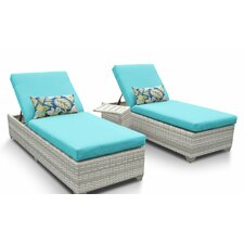 Fairmont 3 Piece Chaise Lounge Set with Cushion