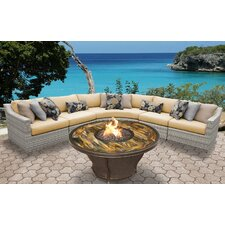 Fairmont Outdoor Wicker 6 Piece Seating Group with Cushion