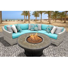 Spacial Price Fairmont Outdoor Wicker 4 Piece Seating Group with Cushion