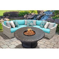 Best #1 Fairmont Outdoor Wicker 4 Piece Seating Group with Cushion