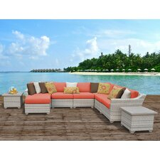 Fairmont Outdoor Wicker 9 Piece Deep Seating Group with Cushion