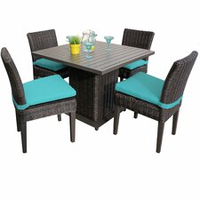 Find Clair 5 Piece Dining Set with Cushions