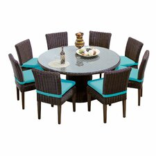 Venice 9 Piece Dining Set with Cushions