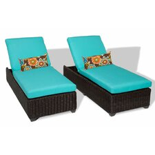Venice Chaise Lounge with Cushion (Set of 2)