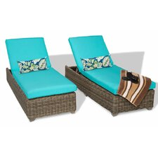 Cape Cod 2 Piece Chaise Lounge Set with Cushion (Set of 2)