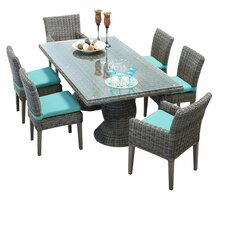 Cape Cod 7 Piece Dinning Set with Cushions