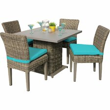 Read Reviews Cape Cod 5 Piece Dining Set with Cushions