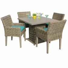 Cape Cod 5 Piece Dining Set with Cushions