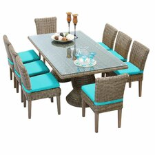 Cape Cod 9 Piece Dinning Set with Cushions