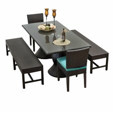 Top Reviews Napa 5 Piece Dining Set with Cushion