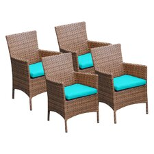Laguna Dining Arm Chair with Cushion (Set of 4)