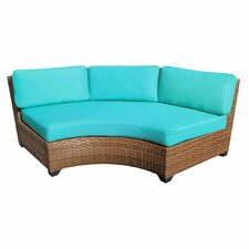 Laguna Curved Armless Sofa with Cushions