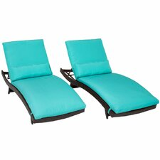 Bali Chaise Lounge with Cushion (Set of 2)