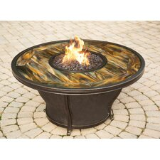 Stained Glass Gas Fire Pit Table