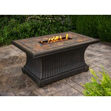 Slate Gas Fire Pit Table