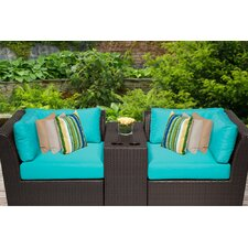 Barbados 3 Piece Seating Group with Cushion