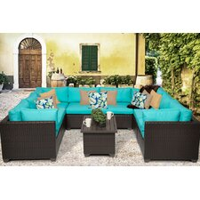 Belle 9 Piece Seating Group with Cushion