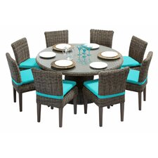 Cape Cod 9 Piece Dining Set with Cushions