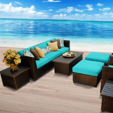 Barbados Outdoor Wicker 10 Piece Deep Seating Group with Cushion