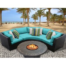 Barbados Outdoor Wicker 4 Piece Deep Seating Group with Cushion