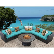 Great Reviews Barbados Outdoor Wicker 6 Piece Deep Seating Group with Cushion