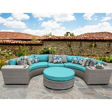 Comparison Florence Outdoor Wicker 6 Piece Deep Seating Group with Cushion