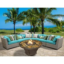 Florence Outdoor Wicker 6 Piece Deep Seating Group with Cushion
