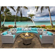 Florence Outdoor Wicker 8 Piece Deep Seating Group with Cushion