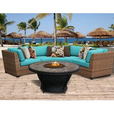 Laguna Outdoor Wicker 4 Piece Deep Seating Group with Cushion