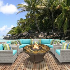 Fairmont Outdoor Wicker 8 Piece Deep Seating Group with Cushion