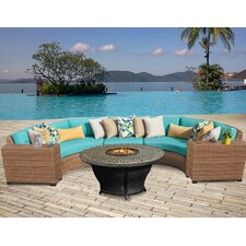 Best Choices Laguna Outdoor Wicker 6 Piece Deep Seating Group with Cushion