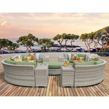 Fairmont Outdoor Wicker 11 Piece Deep Seating Group with Cushion