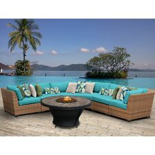Laguna Outdoor Wicker 6 Piece Deep Seating Group with Cushion