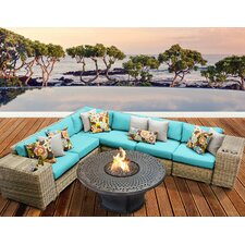 Cape Cod Outdoor Wicker 9 Piece Deep Seating Group with Cushion