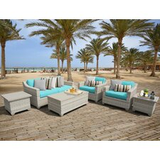 Fairmont Outdoor Wicker 7 Piece Deep Seating Group with Cushion