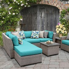 Top Reviews Florence Outdoor Wicker 8 Piece Deep Seating Group with Cushion