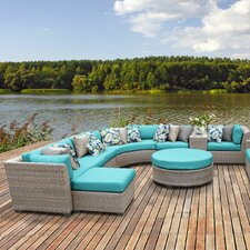 Florence Outdoor Wicker 12 Piece Deep Seating Group with Cushion