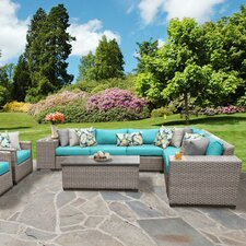 Florence Outdoor Wicker 11 Piece Deep Seating Group with Cushion