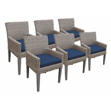 Oasis Dining Arm Chair with Cushion (Set of 6)