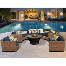 Sale Laguna Outdoor Wicker Patio 8 Piece Deep Seating Group with Cushion