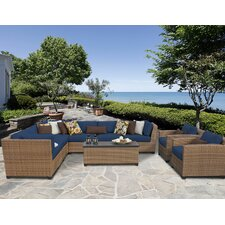 Laguna Outdoor Wicker Patio 10 Piece Deep Seating Group with Cushion