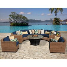 Laguna Outdoor Wicker Patio 8 Piece Deep Seating Group with Cushion