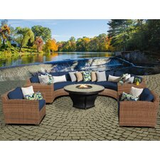 Herry Up Laguna Outdoor Wicker Patio 8 Piece Deep Seating Group with Cushion