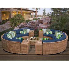 Laguna Outdoor Wicker Patio 11 Piece Deep Seating Group with Cushion