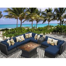 Venice Outdoor Wicker Patio 10 Piece Deep Seating Group with Cushion