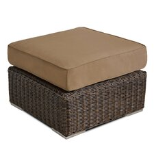 Bargain Wicker Ottoman with Cushion