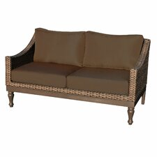 Wicker Loveseat with Cushions
