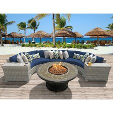 Fairmont Outdoor Wicker 6 Piece Deep Seating Group with Cushion