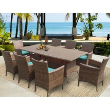 Laguna Dining Arm Chair with Cushion (Set of 8)